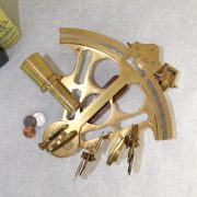 Antique Replica Brass Admirals Sextant, Ships Captain Navigation Tool