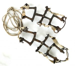 Antique Ice Shoe Grips to Tie on For Ice Climbing Collectible Marked G.A.S.A Old