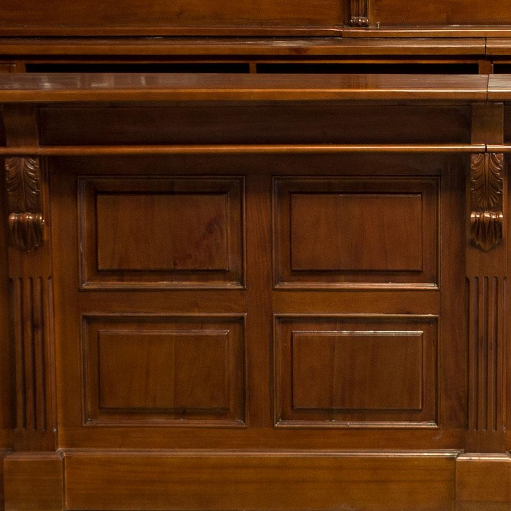 16' Victorian Mahogany Mirrors Back and Front Home Bar Tavern Furniture
