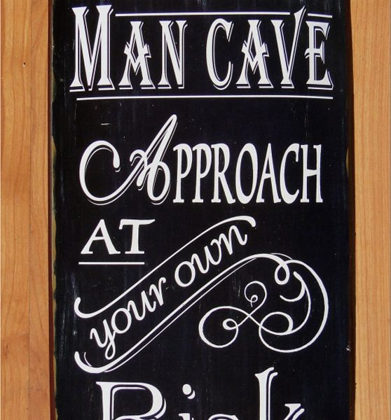 Retro Man Cave Signs : Curved man cave sign retro vintage antique old style