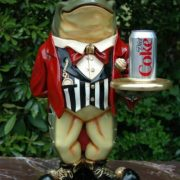 2' Frog Tuxedo Waiter Statue w/ Serving Display with Tray Old Mr. Toad Butler