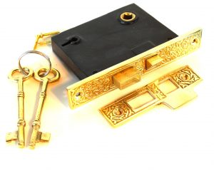 Mortise Lock Vintage Style with Rice Pattern Old House Restoration Hardware