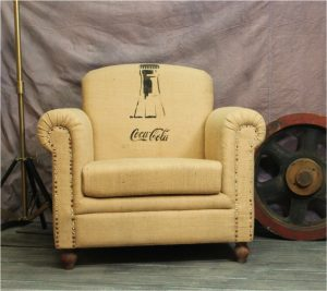Coca Cola Coke Vintage Replica Club Chair Van Gogh Canvas The Kings Bay