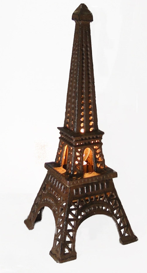 Eiffel Tower Night Light Cast Iron Sculpture French Paris