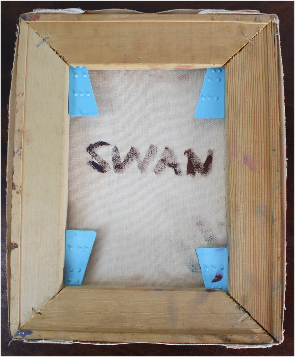 Impressionist Oil Painting of Swan Impasto Brush Strokes Artist Judge