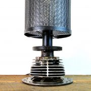 Hand Crafted Steampunk Harley Rough Rider Motorcycle Motor Lamp