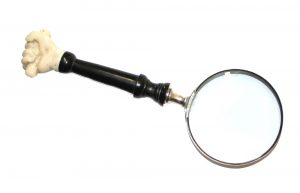 Old Nautical Fist Magnify Glass with Wood Handle for Captain Map Reading