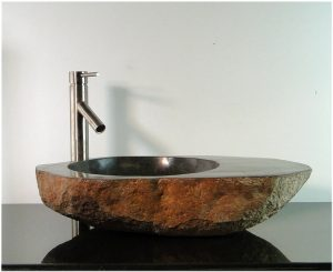 Big River Stone With Vessel Sink And Tray Bar Bathroom Counter Top Deck ps2