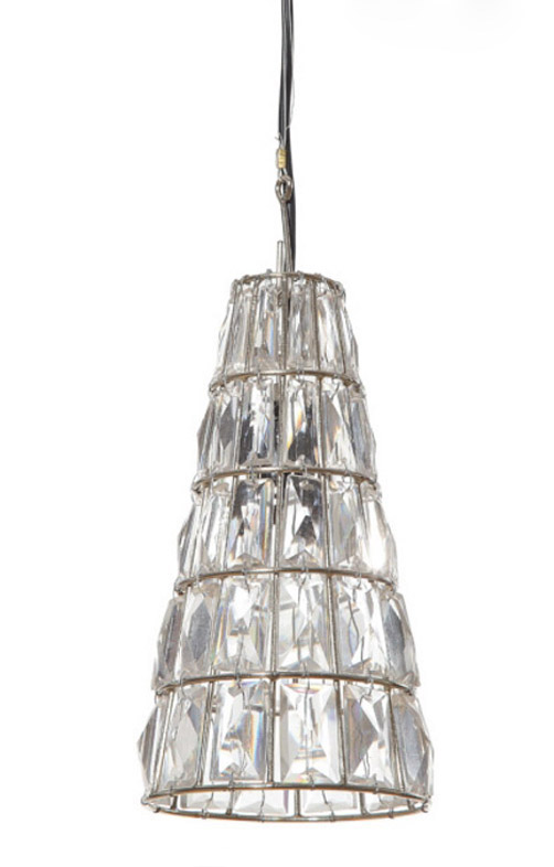 Cone Cut GLASS CEILING Pendant Light Fixture Lamp, Old Style Crystal Chandelier