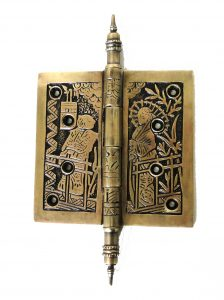 "Japanese Motif Design 4.5"" Solid Brass Door Hinge Rare Quality New Hardware Dark Bronze Finish"