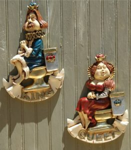 TOILET SIGNS bathroom Man Woman Humorous boys girls vintage wall or door FUN Royal King Queen