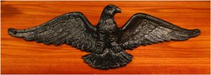 CAST IRON black Eagle Sculpture Wall Art for Above Door Home American HEAVY