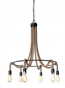 Iron and Rope Tear Drop Big Chandelier Bronze Handing Chain Light Fixture