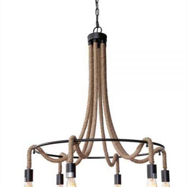 Iron and Rope Tear Drop Big Chandelier Bronze Handing Chain Light Fixture