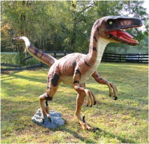 Life Size Velociraptor Dinosaur Statue Theme Park Mini Golf or Home Decor Scultpture