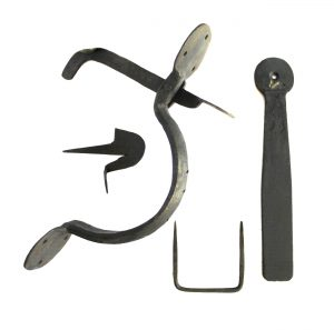 Colonial Wrought Iron BEAN THUMB LATCH Set Hand Made Door Hardware for Restoration