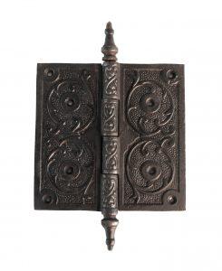 "Victorian Steeple Tip Hinge 5"" Cast Iron Antique Replica Hardware for Restoration"