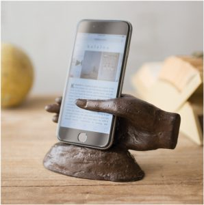 Cast Iron Hand Shaped Smart Phone Holder Handy and Great Gift