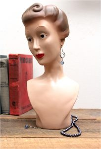 Vintage Replica of a Mannequin Head Bust for Jewelry Store or Home