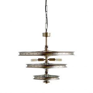 Bicycle Wheel Three Tier Chandelier for Bikers & Bike Club Enthusiasts