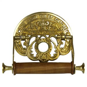 The Crown Toilet Fixture English Style Brass Toilet Paper Holder old style Replica