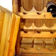 Wood End or Side Table Wine Rack for Home Bar Furniture Made from Pine Wood