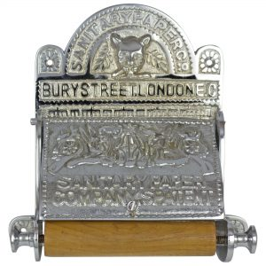 The Sanitary London Toilet Paper Holder old English Replica CHROME