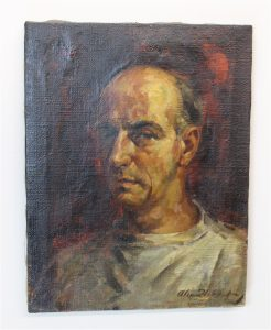 Old Signed Impressionist Oil Painting Portrait of Man, Antique, Signed by Listed Artist ?