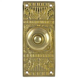 Victorian Vintage Replica Door Bell Button electric Brass Hardware Push Button