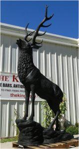 Big Life Size Elk Statue Sculpture for Outdoor or Indoor Buck Lodge Hunters