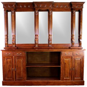 8' Mahogany Victorian BACK Bar Furniture Antique Replica Sale Home Man Cave