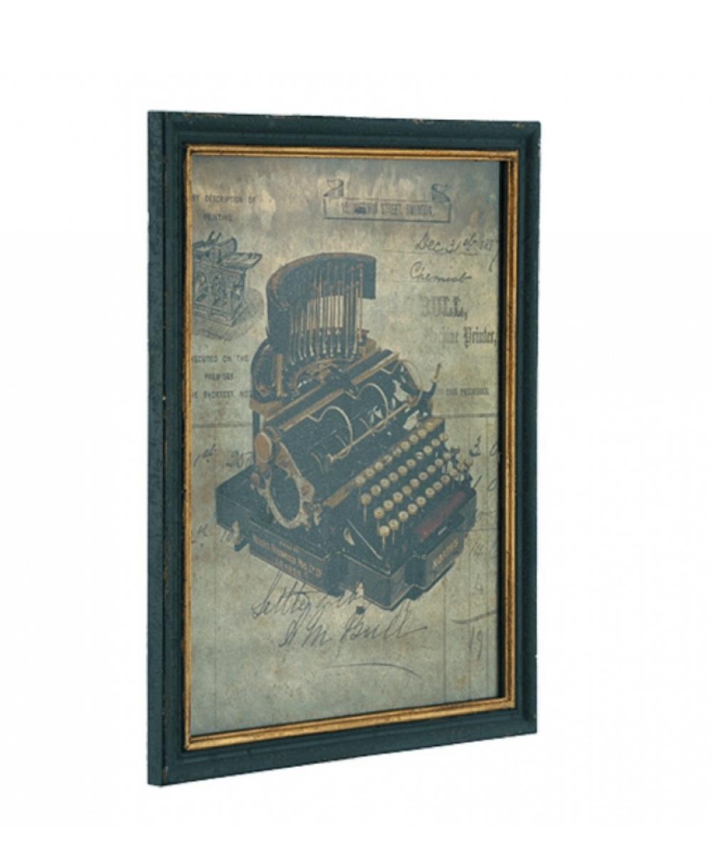 Artwork Framed Antique Typewriter in Wooden Frame, Wholesale Discount Old Vintage