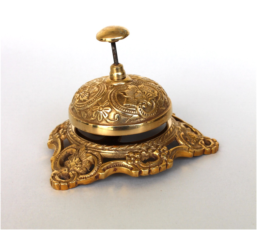 Old Fashioned Antique SOLID BRASS Front Desk Retail Counter Store BELL  Replica - Old Fashioned Antique SOLID BRASS Front Desk Retail Counter Store