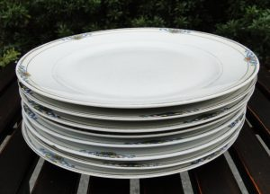 Noritake Glenora Fine China Dinner Plates, 8 Pcs, Circa 1918 Antiques