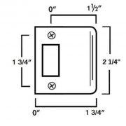 """SOLID BRASS Latch Set for Door Hardware 2 3/8"""" Backset"""