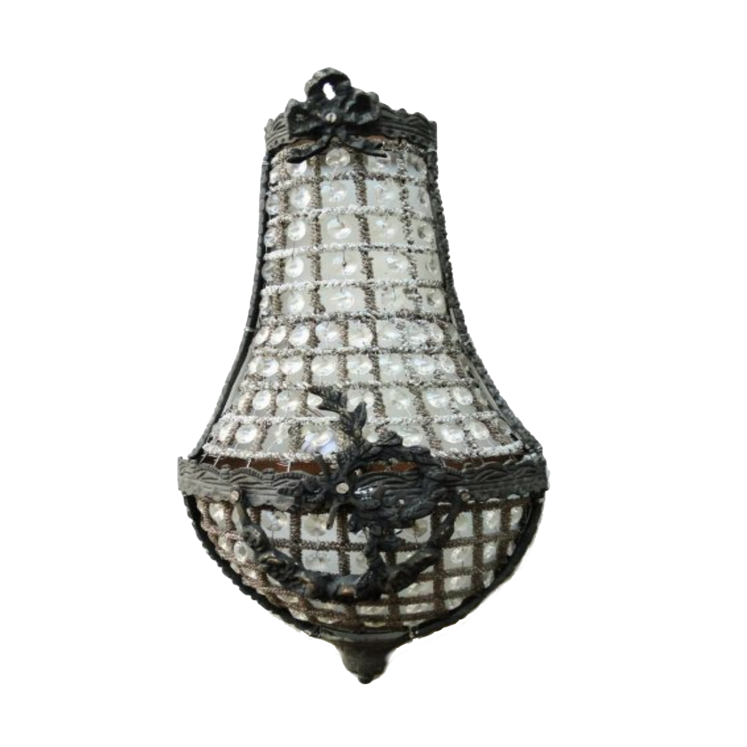 Antique Replica Wall Sconces : European Crystal Antique Replica SMALL Wall Sconce Light Fixture Chateau Mansion - The Kings Bay
