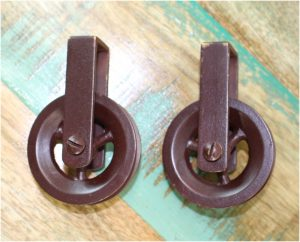 Bronze Pulleys Painted Over Solid Brass Craft Lighting Fixture Lamp Parts