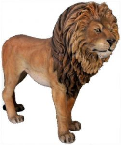 Life Size LION KING SCULPTURE Statue, Full Size Zoo Animal Display Figure