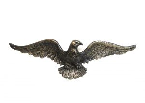 Solid Brass Eagle Sculpture Bronze Finish Above Door Home American HEAVY