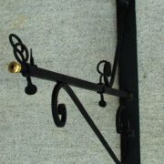Iron Store Sign Bracket Holder Wall Mount Sign Old Trade Wrought Metal Adjustable