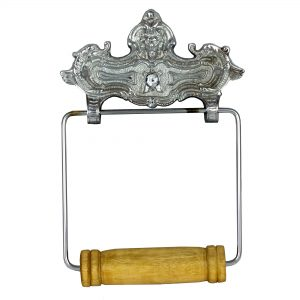 Wall Mount VINTAGE STYLE CHROME Toilet Paper Holder in English Paris French Decor