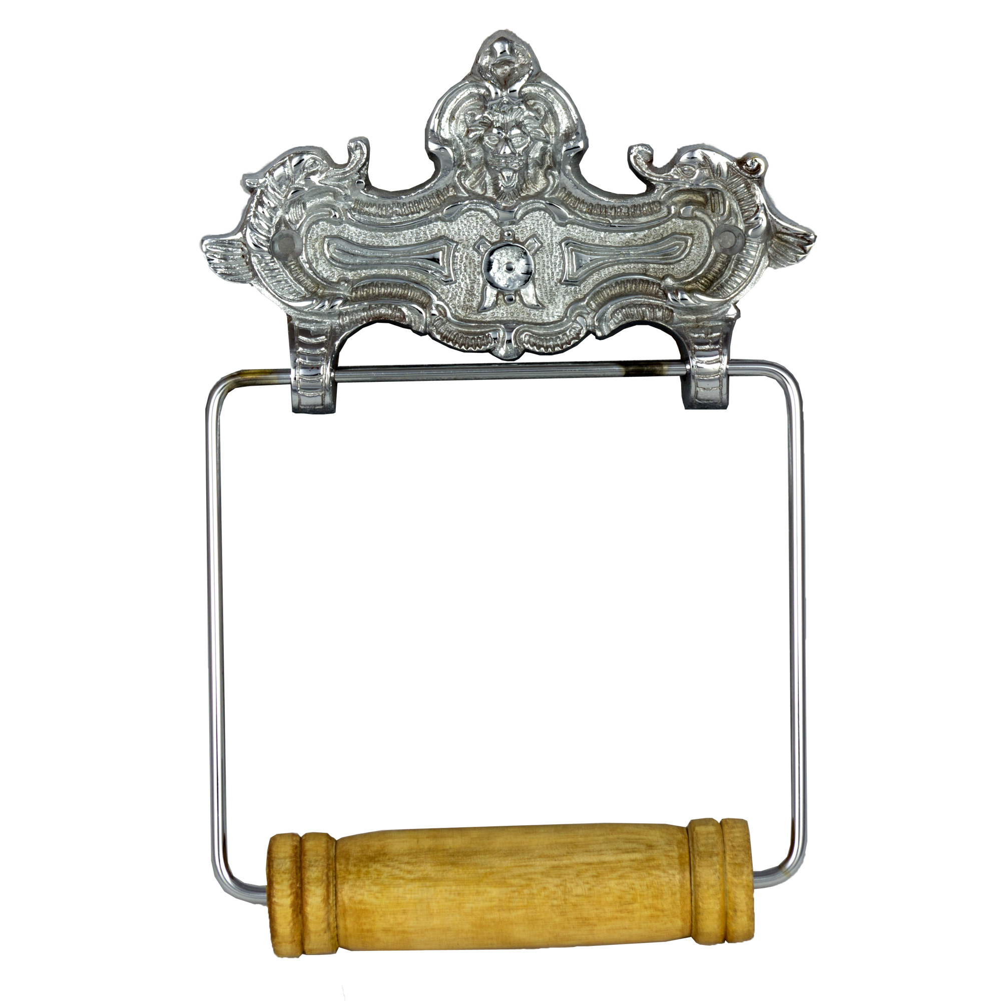 Wall Mount Vintage Style Chrome Toilet Paper Holder In
