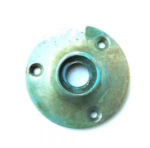 Small Door Rosette Tiffany Green Brass Aged finish base hardware renovators supplies