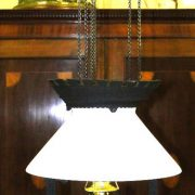 Antique Victorian Western Saloon Chandelier Cast Iron, Kitchen Country Light Fixture