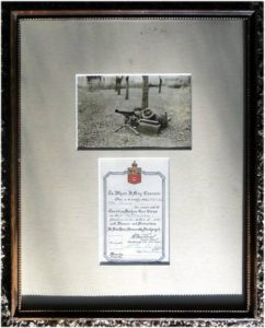 Rare Authentic WWI World War One Canadian Machine Gun, Honorable Discharge, Art