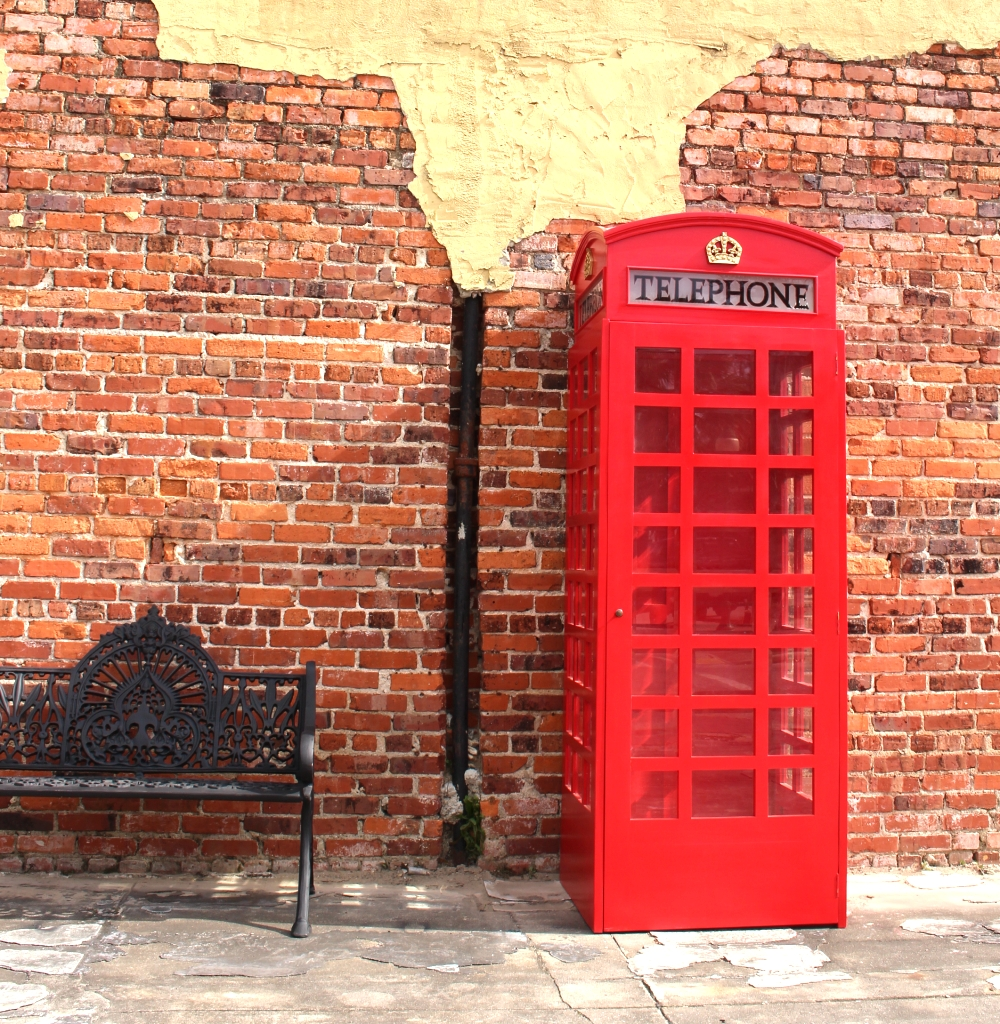Red British Wood Telephone BOOTH Replica Like Old Cast Iron Style 1