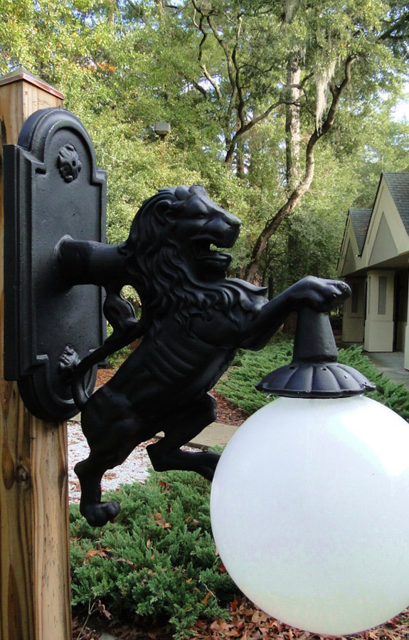 Wall Mounted LION SCONCE light indoor or outdoor Detroit fixture metal building