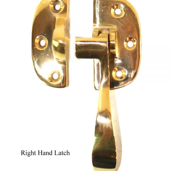 Ice Box Latch Solid Brass Right Hand for Oak Old Refrigerator Antique Reproduction