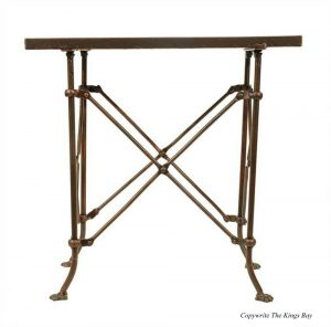 Old Bronze Rectangular Claw Foot End Table with British East India Trading Antique Style