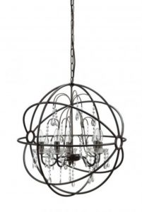 Big Round Iron / Steel Ball Chandelier, Classic Vintage Ceiling Light Fixture